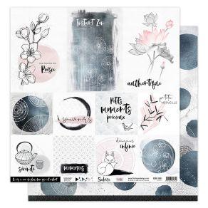 Papier imprimé SAKURA 1 par Florilèges Design. Scrapbooking et loisirs créatifs. Livraison rapide et cadeau dans chaque comma...