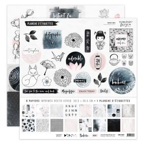 Kit SAKURA par Florilèges Design. Scrapbooking et loisirs créatifs. Livraison rapide et cadeau dans chaque commande.