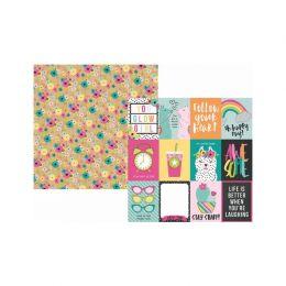 PROMO de -30% sur Papier imprimé Oh, Happy Day ! 3X4 ELEMENTS Simple Stories