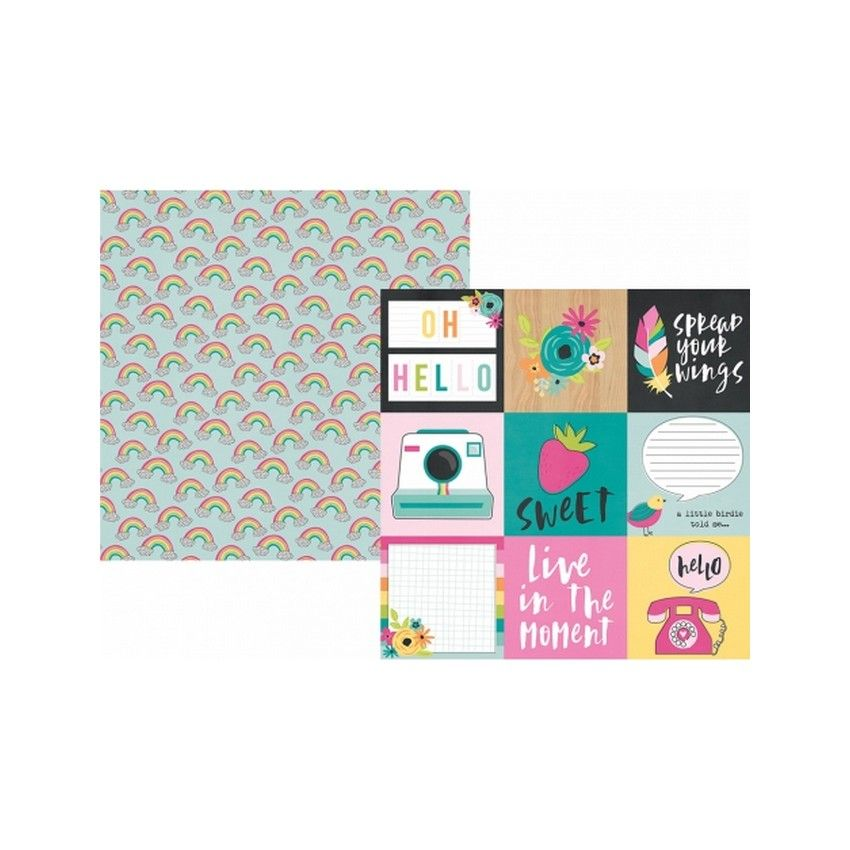 Papier imprimé Oh, Happy Day ! 4X4 ELEMENTS par Simple Stories. Scrapbooking et loisirs créatifs. Livraison rapide et cadeau ...
