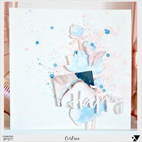 Tampon bois LOTUS SOLITAIRE par Florilèges Design. Scrapbooking et loisirs créatifs. Livraison rapide et cadeau dans chaque c...