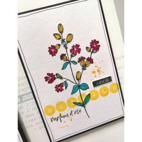 Tampon bois CHIFFRES RONDS par Florilèges Design. Scrapbooking et loisirs créatifs. Livraison rapide et cadeau dans chaque co...