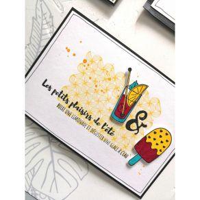 Tampon bois PETITS MOTIFS LIGNÉS par Florilèges Design. Scrapbooking et loisirs créatifs. Livraison rapide et cadeau dans cha...